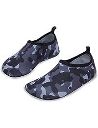 L-Run Zapatos de Piel descalza para niños Zapatos acuáticos para Piscina de  natación Playa 7e2a2f37c55
