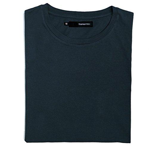 Blank Denim-denim (DEPARTED Herren T-Shirt Blank Größe L, Coastal Denim)