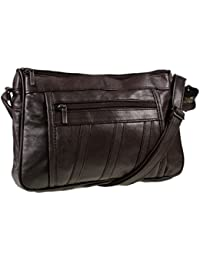 Lorenz Leather Handbag # 1968 - Dark Chocolate