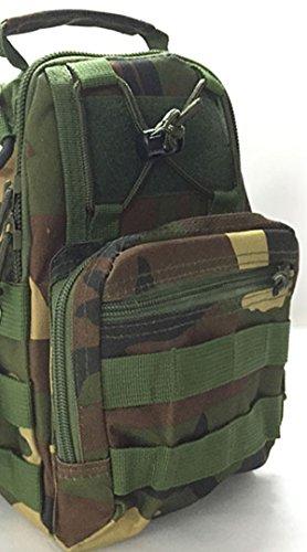 WorldShopping4U Außen Taktische Kampf Schulter Strap Rucksack Beutel, Brust Tasche, Militär Sport Beutel Packung für Camping Reise Wandern Trekking DW