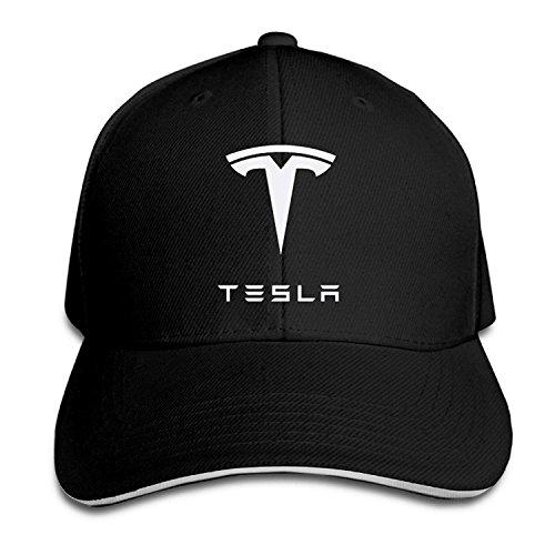 60e01fdbf0a Tboylo Bro-Custom Simple Tesla Motors Sandwich Flex Fit Hat Baseball Cap  Black