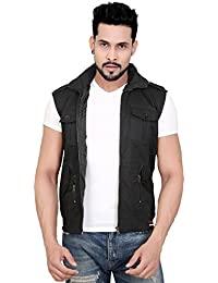 Abc Garments Black Casual Jacket For Mens