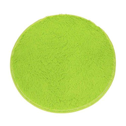 Runde Teppichmatten weiches Bad Schlafzimmer Boden Dusche runder Matte Teppich rutschfester (Grün)