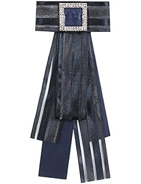 WKAIJCJ Pajarita Pajarita Cuello Broche Cuello Camisa Señora Ramillete Sección Larga Accesorios Ropa Moda Creativa...