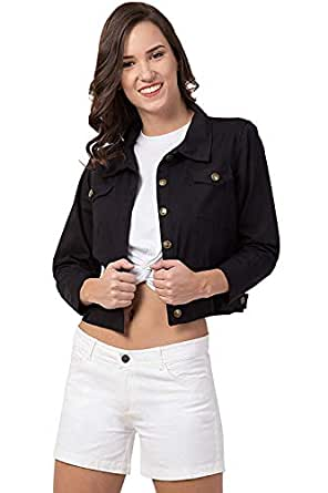 ROOLIUMS Full Sleeve Solid Women's/Girl's Denim Jacket