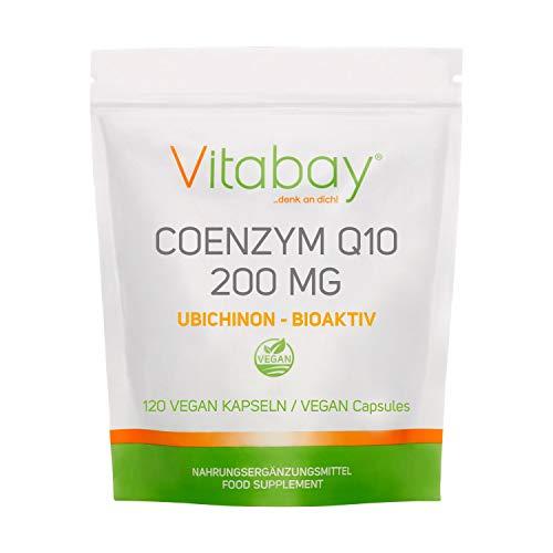 Coenzym Q10 Ubichinon 200mg - 120 Vegane Kapseln - hochdosiert - Energie, Ausdauer, junge, gesunde Haut - Herz-Kreislaufsystem - Nerven - Immunsystem