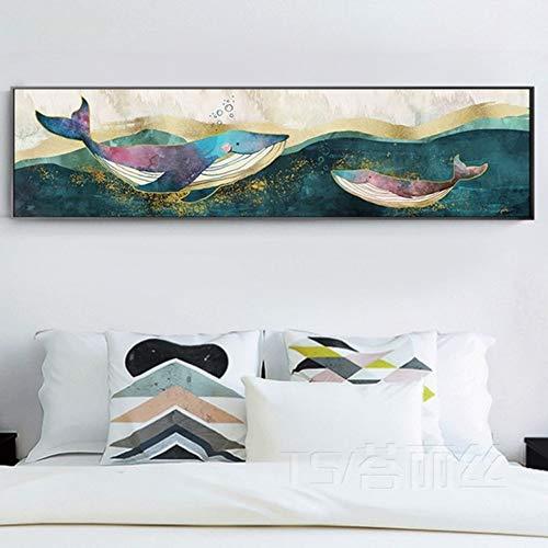 Rosen Engel Der Nacht Licht (Schlafzimmer Diamant Painted Full Drill Nacht Malerei Abstrakte Whale Nordic Modern Boy Kinderzimmer Cartoon Diamant Embroidere,50X150cm)