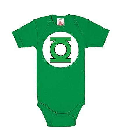 LOGOSHIRT - Green Lantern Baby-Body Kurzarm Junge - DC Comics - Green Lantern - Logo Baby Strampler - grün - Lizenziertes Originaldesign, Größe 62/68, 3-6 Monate