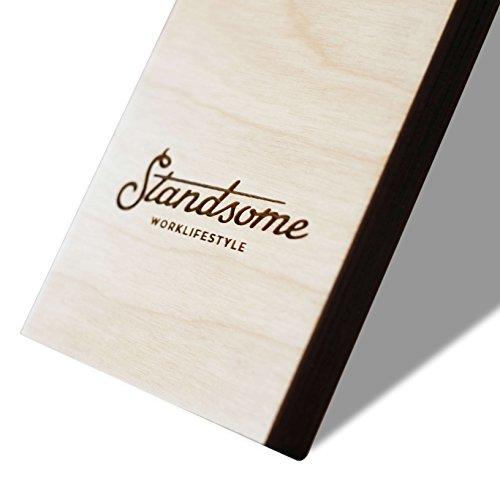 Stehschreibtisch Aufsatz aus Holz - Der höhenverstellbare STANDSOME SLIM Steh Sitz Schreibtisch für ein gesundes Arbeiten im Büro oder ganz egal wo - 5