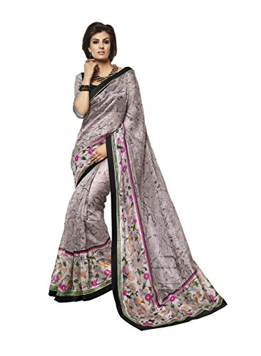 Bhavi Saree Supernet Saree (Bhs406_Multi Color)