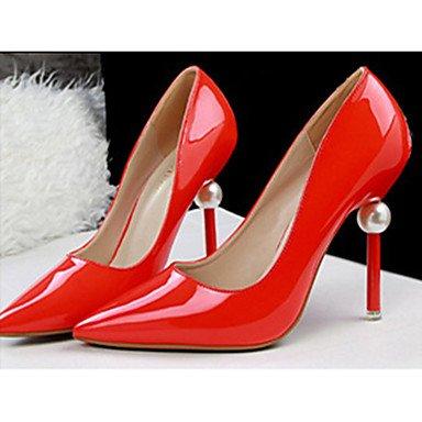 Moda Donna Sandali Sexy donna tacchi in pelle di brevetto Casual Stiletto Heel altri nero / viola / rosso / bianco / Argento / nudo altri White
