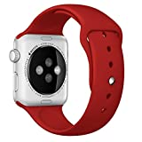 For Apple Watch Band,Voberry® Soft Silicone Sport Style Replacement Band for Apple Wrist Watch (42mm, Red )