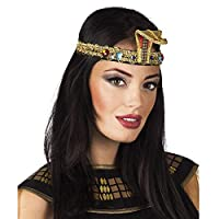 Fancy Dress VIP Express Queen of the Nile Gold Snake Egyptian Headband Crown