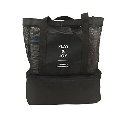 Multifunción Bolsa de malla de 2bolsa de refrigerador aislado Picnic bolsa hombro bolsa de viaje bolsa de natación plegable para camping playa viajes elegante