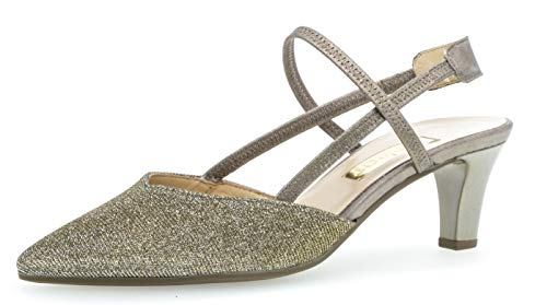 Gabor 21.554 Damen Pumps,Sling-Pumps, Frauen,Slingback Pumps,modisch,Fashion,Platino/Bronce,6 UK Sling Pumps Schuhe