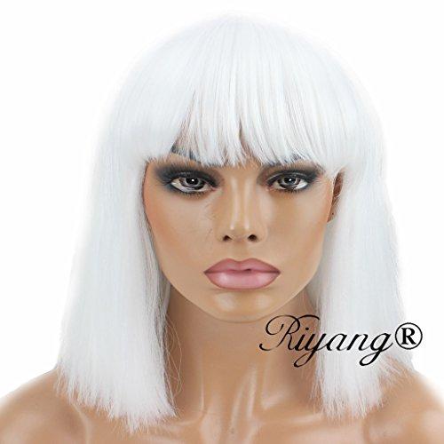 kissmywig-moda-mujer-peluca-corto-Bob-Recta-Kinky-completo-Bangs-Sinttico