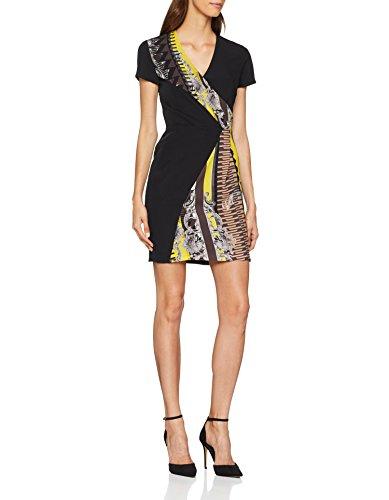 Versace Jeans Damen Kleid Lady Dress, Gelb (Mimosa E623), 34 (Herstellergröße: 40)