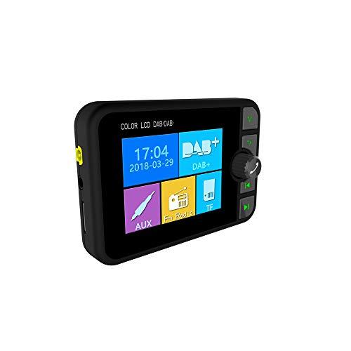 HM2 Mini-DAB-Radioempfänger, bunter TFT-Bluetooth-FM-Sender/MCX-Antenne 3,5-mm-Klinken-Audioausgang DAB-Tuner, Unterstützung TF - Schwarz 3,5-mm-antenne
