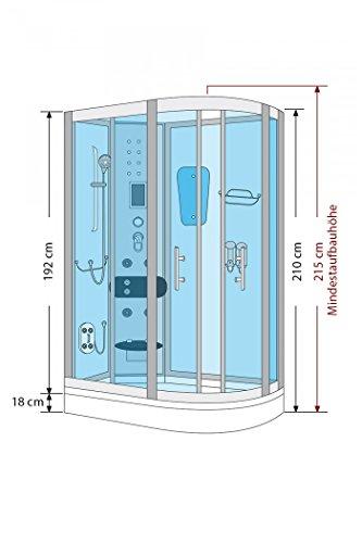 AcquaVapore DTP8060-7000R Dusche Duschtempel Komplett Duschkabine 80x120 - 5