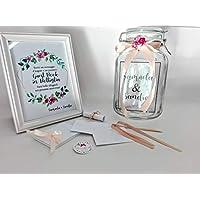 Wedding guestbook matrimonio messaggio bottiglia set personalizzato