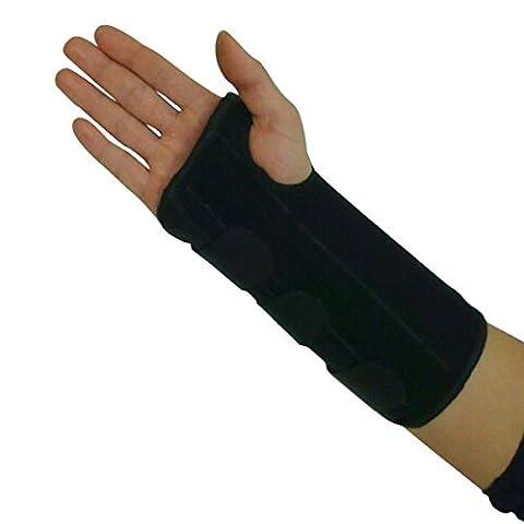 Carpal Tunnel Wrist Brace Support Sprain Forearm Splint Band Stra (Right)