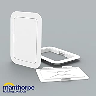 Manthorpe GL50 Access Panel Inspection Hatch White 100mm x 150mm Fuse Boxes, Switches, Controls, Stop Cocks, Valves