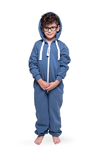 Jumpster Jungen und Mädchen Jumpsuit Kinder Overall Kids Deepest Denim Blau S (122-128)
