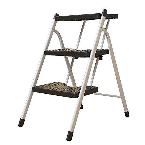 JXJJD Leiterfamilie, die bewegliches automatisches Treppenhaus innen Zwei Schritte, tragbarer aufsteigender Jobstepp des Aufstiegs mit DREI Schritten faltet (größe : 3-Tier) -