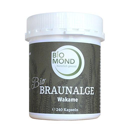 BIO Braunalge Wakame Kelp BIOMOND 240 Kapseln Apothekerqualität natürliche Jodquelle