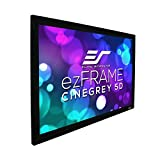 "Elite Screens ezFrame CineGrey 5D, 100"" Diagonal 16:9, 8K 4K Ultra HD Ready Ceiling Light Rejecting and Ambient Light Rejecting Fixed Frame Projector Screen, CineGrey 5D Projection Material, R100DHD5"