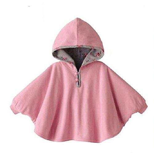 Butterme Netter Baby Winter warme Beiderseitige Wear Kapuze Cape Umhang Poncho Mantel für Kinder Kleinkind Baby Mädchen Jungen 1-3 Jahre