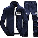 Sportjacke Herren Briskorry Männer Herbst Winter Verdicken Bomberjacke Softshelljacke Sweatjacke Outdoor Funktions Trainingsjacke Trainingsanzug Sportkleidung+Hosen-Sets