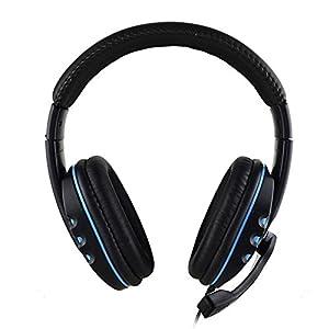 beautygoods Kopfhörer Für PS4-Spiele, Geräuschunterdrückung Mit Kabelgebundenen Stereokopfhörern, Kopfhörer Mit Lautstärkeregler Und Stille Für PC, MAC, PS4, Xbox One