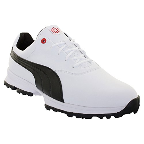 Puma Golf Ace - white-black-high risk red, Größe:10.5