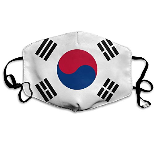 Security Kostüm Weibliche - WBinHua Masken für Erwachsene, Mask Face, Mouth Mask, Breathable Mask Anti Dust, Unisex Korean Flag Printed Cotton Mouth-Masks Face Mask Polyester Anti-dust Masks