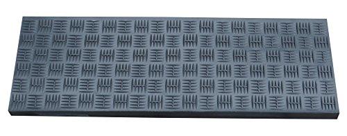 Winkel Stufenmatte Gummi, schwarz, rutschfest, Gummi Treppenstufe (2 Streifen Allwetterklebeband)