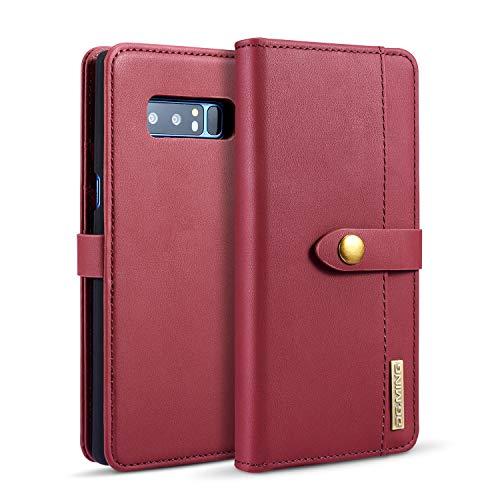 Exquisite Handyhülle aus Leder Pu Leder flip Brieftasche case mit kartenhalter Tasche Telefon Abdeckung für Samsung Note 8 (Color : Red) - Kartenhalter Telefon-abdeckung