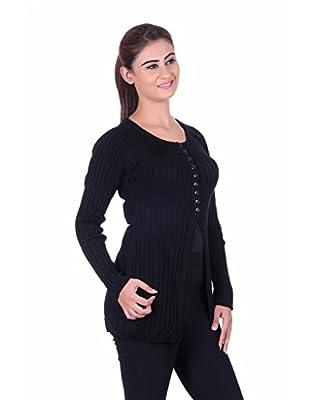 eWools Women's Ladies Girls Black winter wear Woolen Sweater