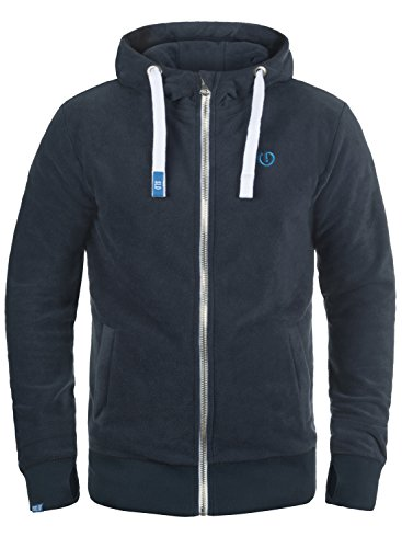 SOLID Loki Herren Sweatjacke Kapuzen-Jacke Zip-Hoodie aus hochwertiger Materialqualität, Größe:XL, Farbe:Insignia Blue (1991) Hoody Mit Reißverschluss