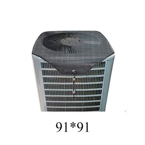 Klimagerät-Abdeckung, Laubschutz, praktischer Sommer, staubdicht, groß, strapazierfähig, sauber, Netzstoff für Außeneinheiten, a, 81 81