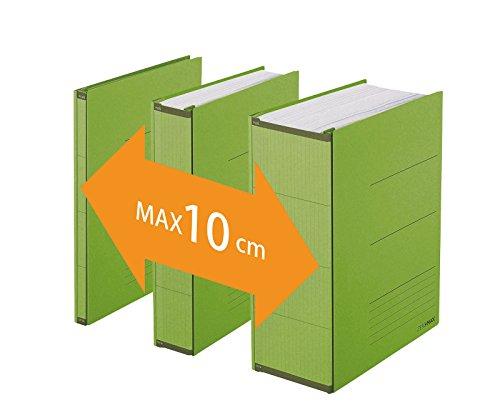 PLUS Japan, Zero Max Platzsparordner in Grün, 1er Pack (1 x 1 Ordner) - Grüne Klassische Aktentasche