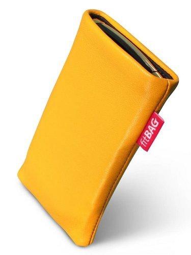 fitBAG Beat Zitronengelb Handytasche Tasche aus Echtleder Nappa mit Microfaserinnenfutter für Sony Ericsson W580 W580i W580 Crystal
