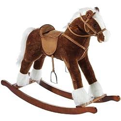 Heunec Classic 727571 - Cavallo a dondolo sonoro, grande