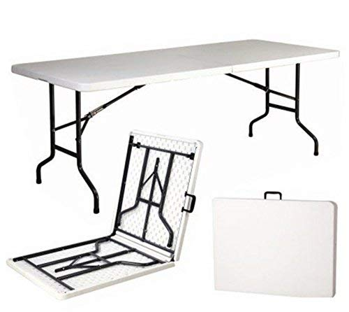 Mesa plegable resina dura 240 x 76 x 74 altura cm