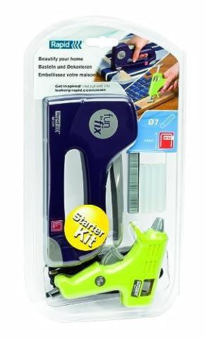 Rapid Glue Gun and Stapler Starter Kit for Decoration, G1010 and M10R, 5000219