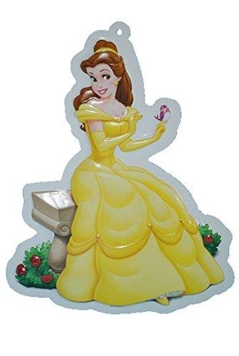 Preisvergleich Produktbild Unbekannt XL - 3-D Disney Prinzessin Wand Bild Belle Schöne und das Biest Princess - Kinder / Wanddeko für das Kinderzimmer - aus als Türschild - Wandbild