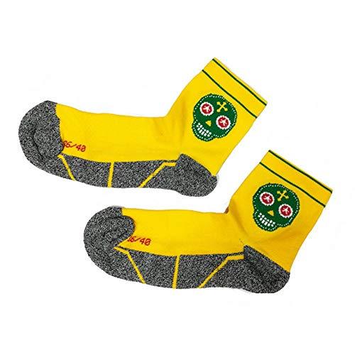 Trail Running Socks Gelb, Männer, Frau, Original, Nahtlos, Thermisch, Skully Größen 41-45 -