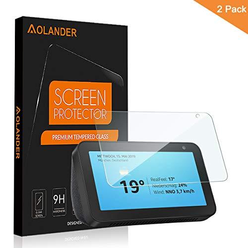AOLANDER Compatibile with Amazon Echo Show 5 Pellicola Protettiva Vetro Temperato, 9H Durezza Protezione dello schermo [Scratch Resistente] [Senza Bolle]...