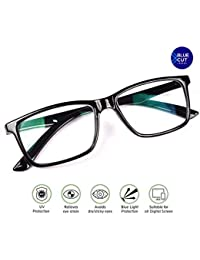 Metrovision Blue Ray Cut UV420 Unisex Wayfarer Spectacle for Eye Protection During Watching TV Using Computer Tab Laptops Mobile Display