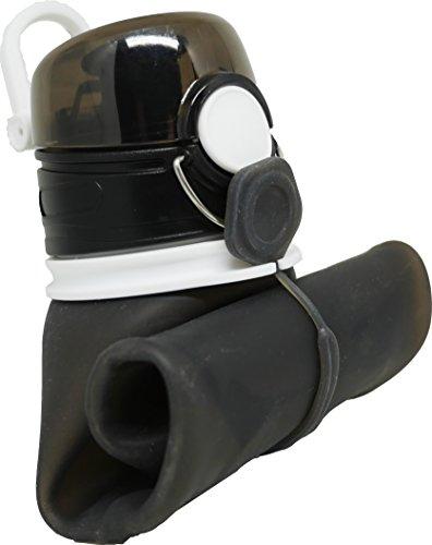 Faltbare Trinkflasche / Auslaufgesicherte Sport-Wasserflasche 750ml | BPA Frei aus Medizinischen Silikon | Kompakt | Geeignet für Ausflüge